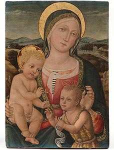 'Madonna with child and St. John the Baptist', c.1490